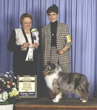 ASSA 2001 - 4th place futurity. Judge Lyn Krivanek